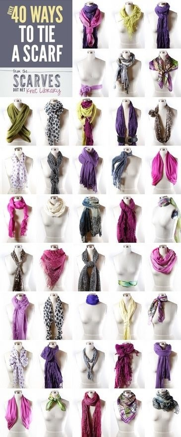 The many ways to do a scarf!