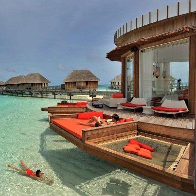 Sun soaking in Maldives!