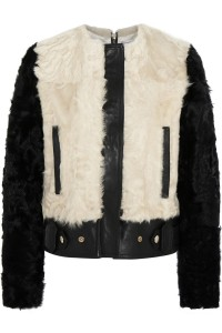 GIVENCHY two-tone shearling and leather biker jacket