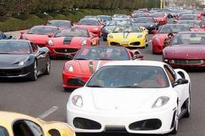 Super car traffic jam