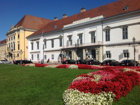 The residence of the Hungarian president, right behind the castle!