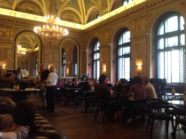 The Bookcafe at the Alexandra Bookstore on Andrassy Ut